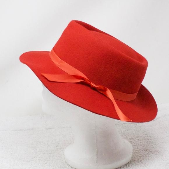 daaa6ea0c Effanem 100% Wool Crusher Hat Red Size M